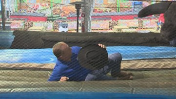 Texas Outdoors: Mechanical Bull Riding at the San Antonio Stock Show & Rodeo