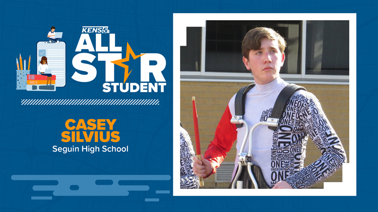 ALL-STAR STUDENT: Marching to the beat of his own drums while giving back