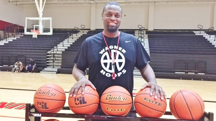 Wagner boys basketball coach Rodney Clark