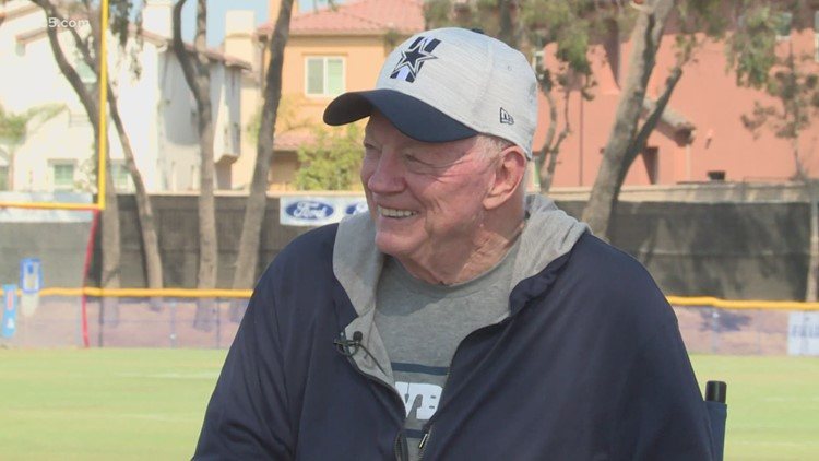 One on one with Jerry Jones at Cowboys camp in Oxnard, California