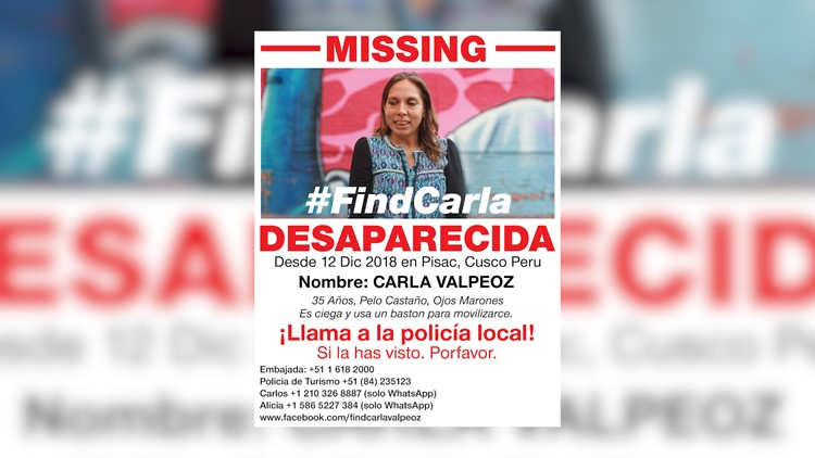 Carla missing persons poster