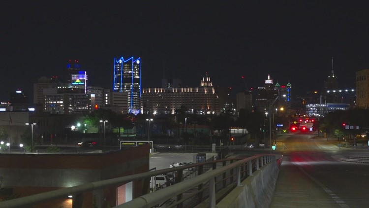 Yay teachers! Check out San Antonio's blue downtown skyline in honor of World Teachers Day