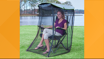 Outdoor sports games just got a bit more interesting with a bug-repellent chair