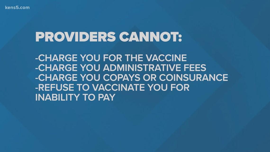 Healthcare providers can't bill you for a COVID-19 vaccine
