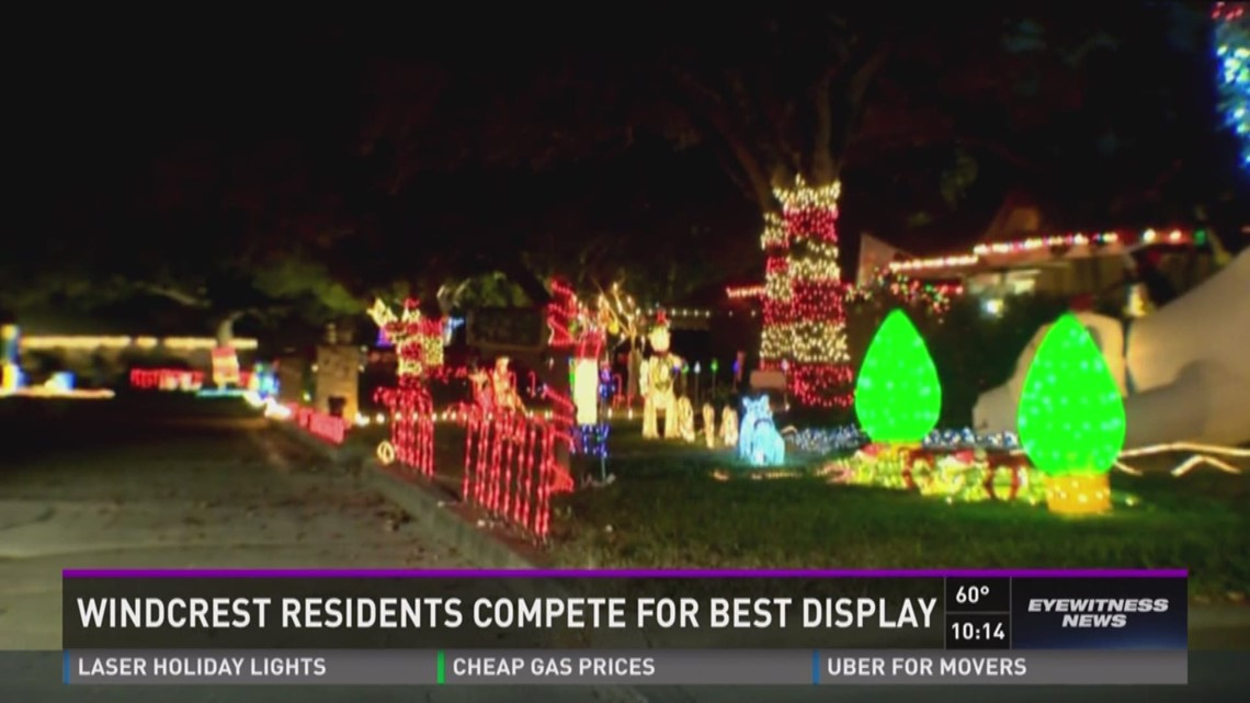 windcrest residents compete for best christmas lights kens5com - Windcrest Christmas Lights