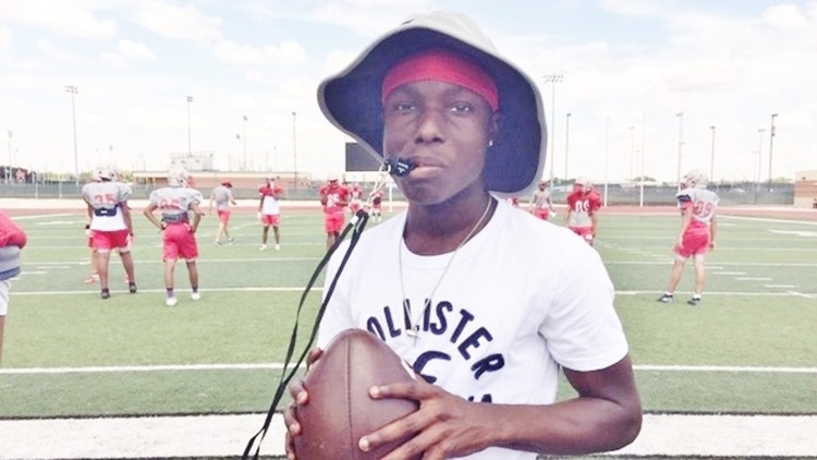 FBH Judson junior Bryce Wisdom at practice 0904