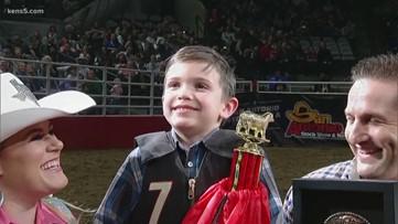 Jonah from San Antonio wins Tuesday's Mutton Bustin'