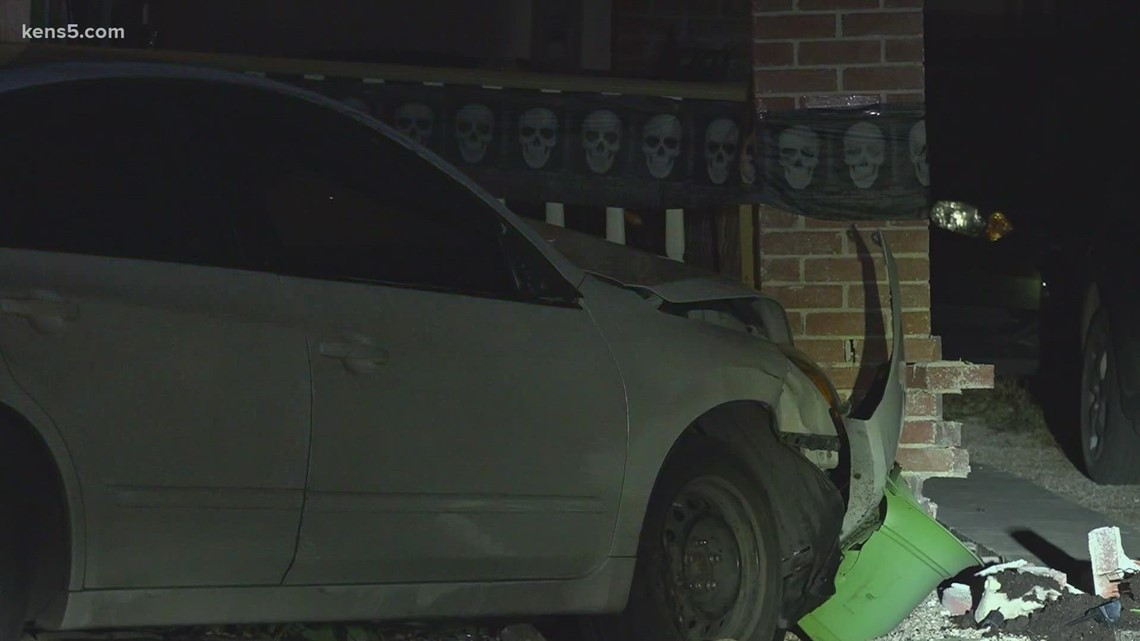 Driver crashes into house with family sleeping inside near downtown