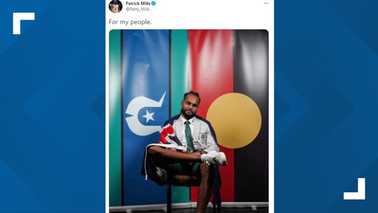 Spurs' Patty Mills first-ever Indigenous Australian to carry flag at Olympics opening ceremony