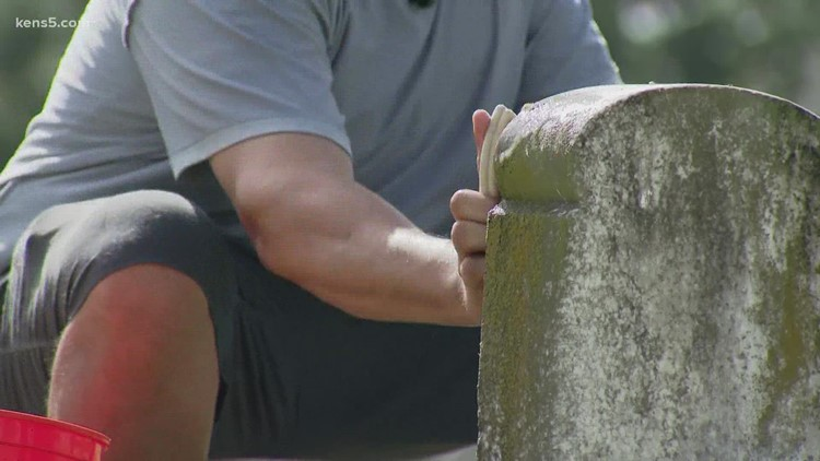 Graveside grace: College instructor tackles aging tombstones at historic cemeteries