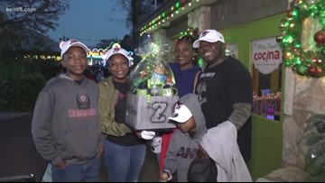 Two deserving families get special Zoo Christmas