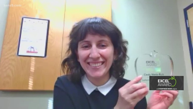 Cindy Nieto-Ruiz wins KENS 5 EXCEL Award for Northside ISD