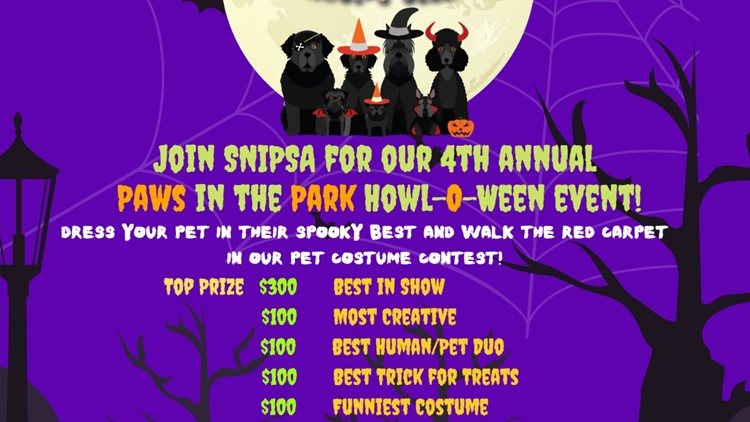 Show off your dog's Halloween costume and possibly win a prize
