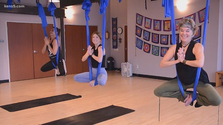 Aerial yoga taking things to new heights   Get Fit