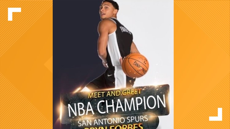 Come meet and greet Spurs' Bryn Forbes