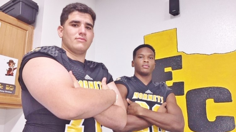 FBH East Central offensive lineman Daniel Santallana and strong safety Damien Quick
