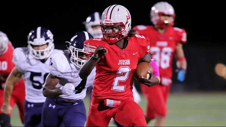 FBH Judson QB Mike Chandler II on the go against Smithson Valley in 2019