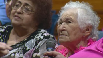 The secret to life for the newest member of the 100th Birthday Club? Faith, and gratitude