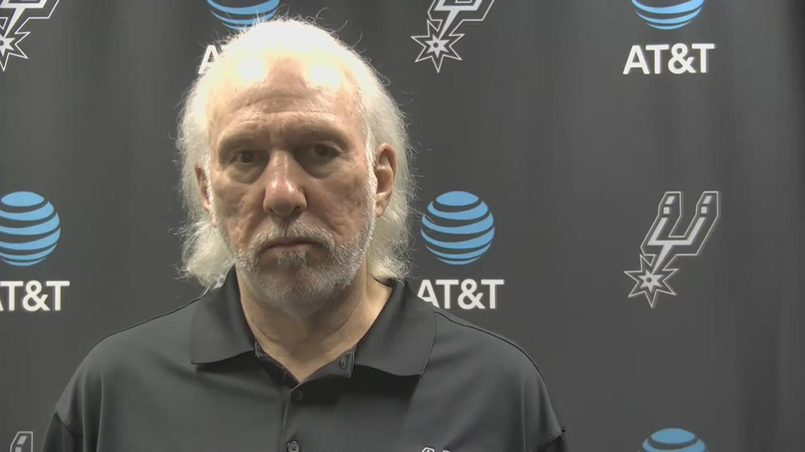 Gregg Popovich speaks postgame after Spurs beat Detroit 106-91