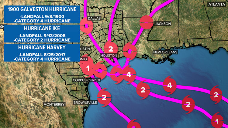 WEATHER MINDS CLASSROOM: Historic Texas Hurricanes