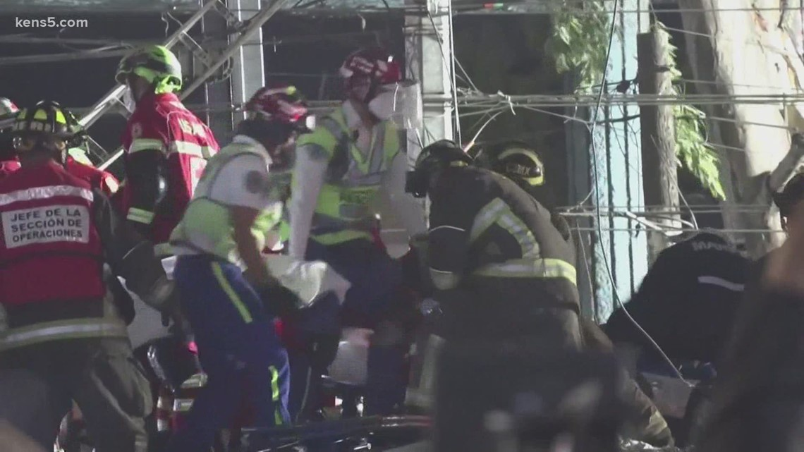 At least 23 dead after overpass collapses onto train in Mexico City