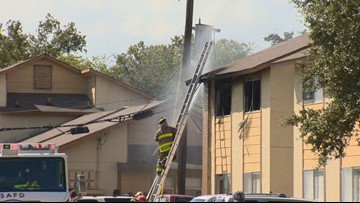Several families displaced after east-side apartment fire