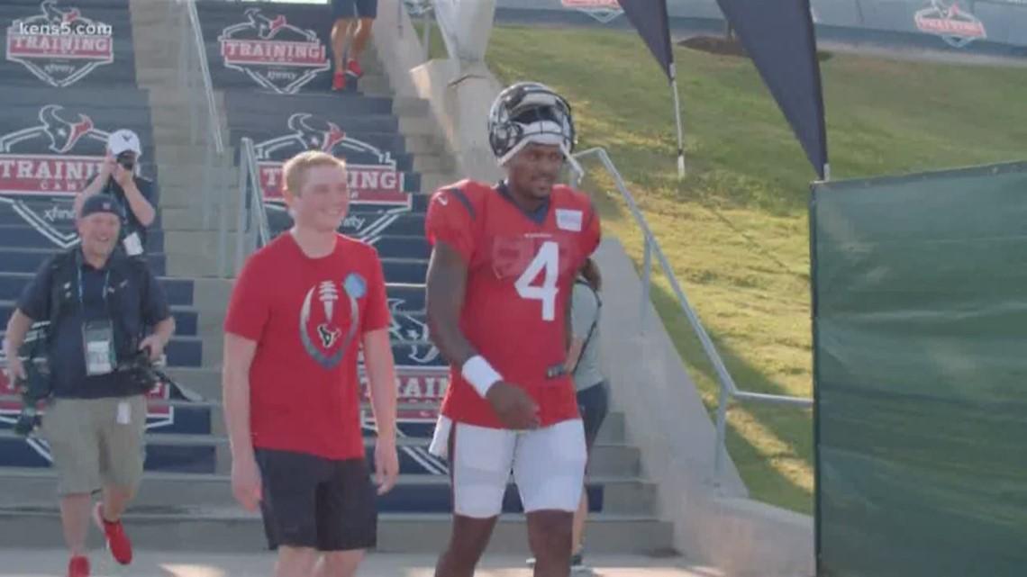Texans' QB Watson makes fan's dream come true