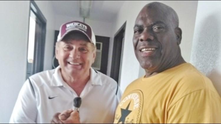 SAISDHOF Coach Phil Danaher and Larry Collins
