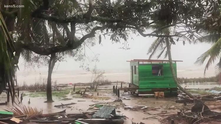 Hurricane Iota pounds Central America