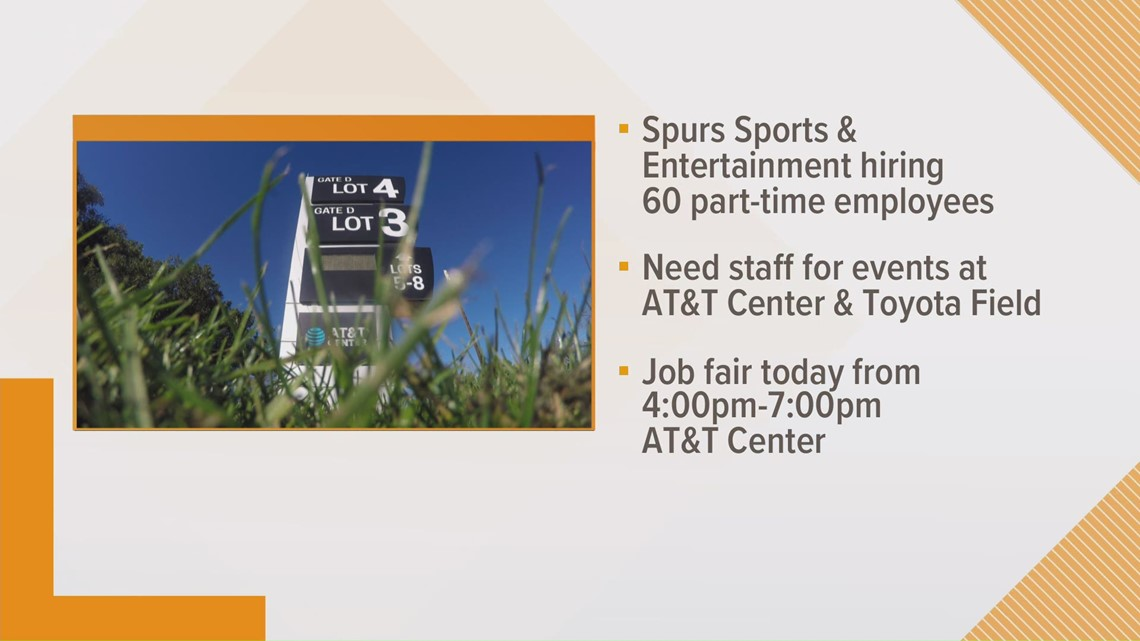 Want to work for the Spurs? Here are the part-time positions available