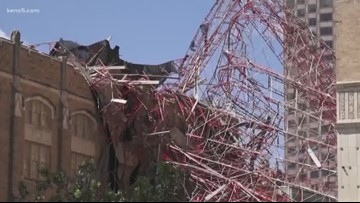 Church provides glimpse at damage from massive scaffolding collapse