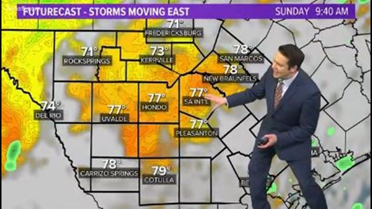 First Alert: Bexar County avoids strong storms; beautiful Sunday is our reward