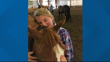Little cowgirl, big heart: 10-year-old horse trainer receives the gift of a lifetime