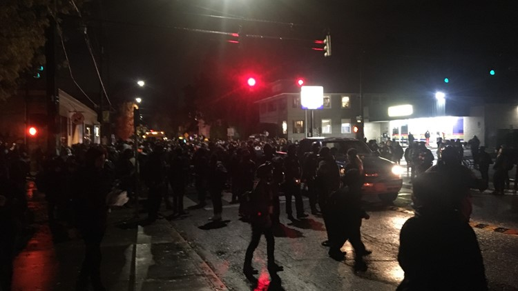 March for racial justice in Portland on election night ends peacefully