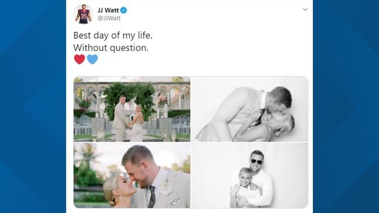JJ Watt, Kealia Ohai tie the knot in the Bahamas