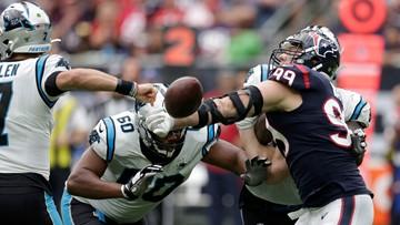 Panthers down Texans 16-10 despite Allen's fumbles