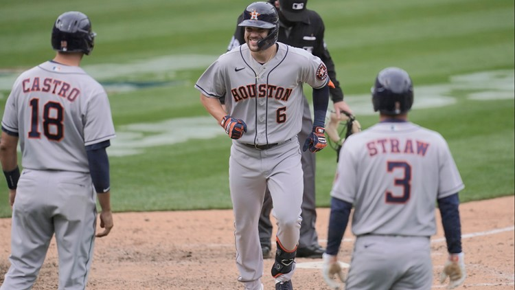 Astros rout Oakland to complete season-opening sweep