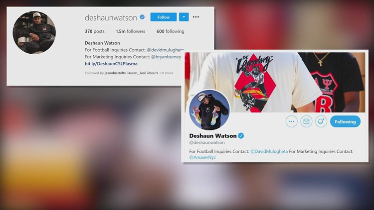 Deshaun Watson pulls references to Houston Texans from his Instagram and Twitter accounts
