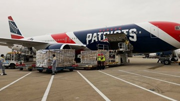 Patriots plane brings 1.2M N95 masks from China to US