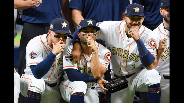 Photos: Astros receive World Series Championship rings