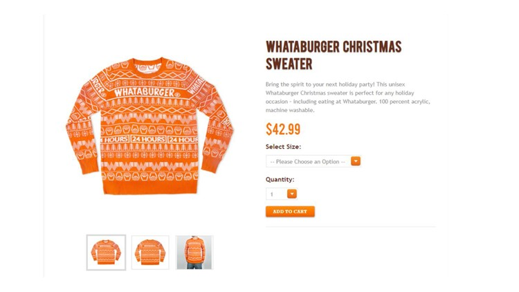 Need some holiday swag? Whataburger selling custom-made Christmas sweaters