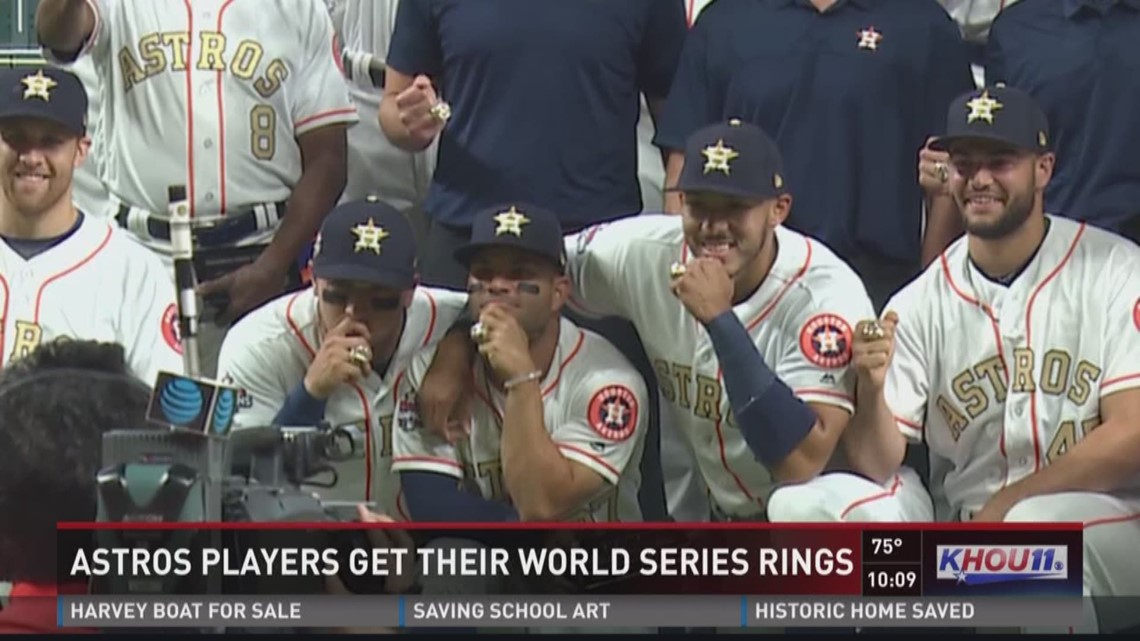 Astros players get their World Series rings