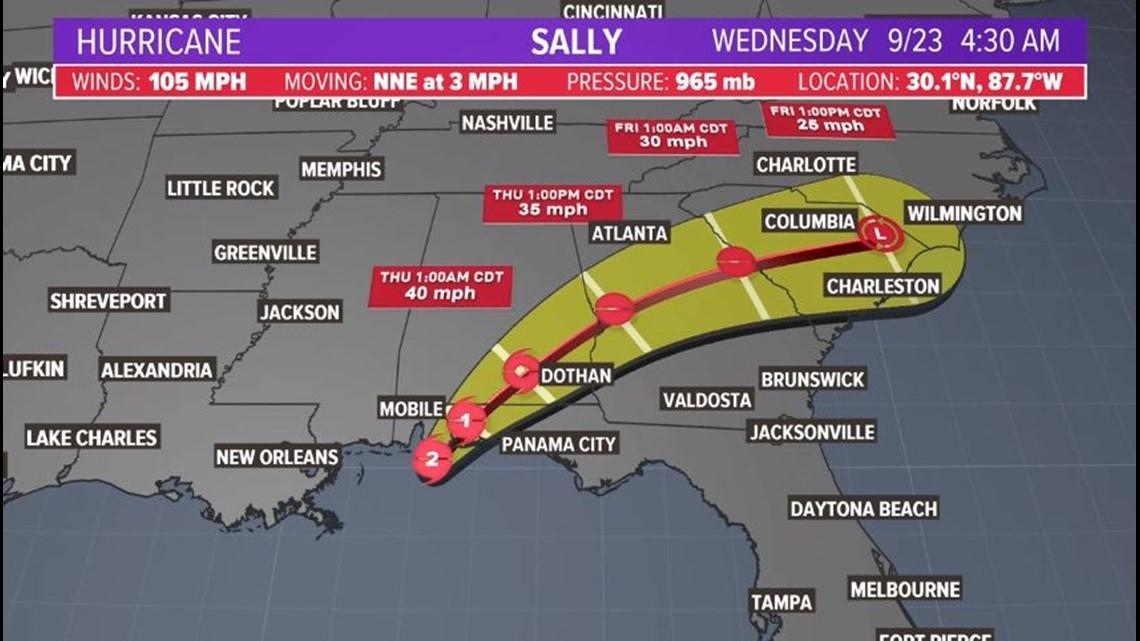 Hurricane Sally update: Landfall in Gulf Shores, Alabama ...Hurricane Sally Update