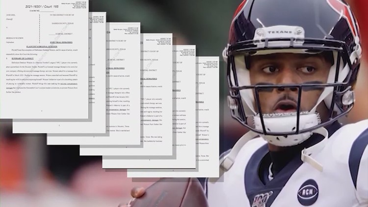 Deshaun Watson now facing 13 lawsuits from women accusing him of sexual misconduct
