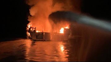 4 bodies found, 29 still missing after dive boat fire off California coast