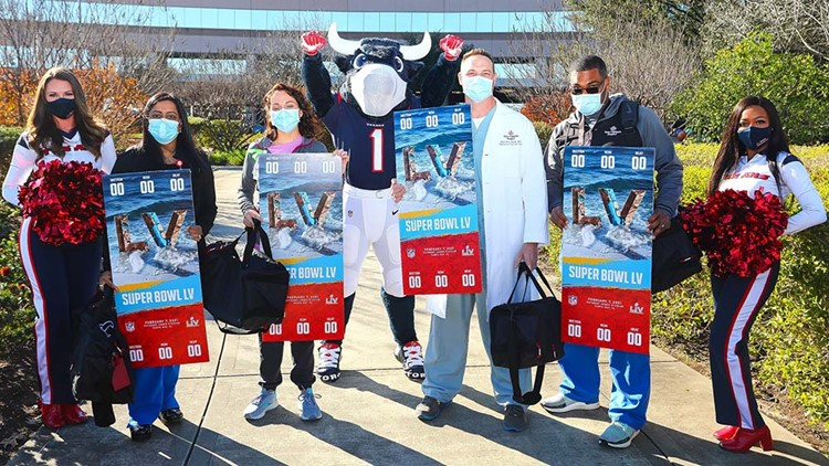 Texans treat four Houston healthcare heroes to trip to Super Bowl LV