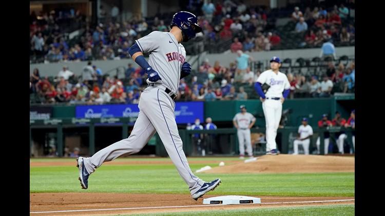 Urquidy solid, Astros belt three HRs in 7-2 win over Rangers