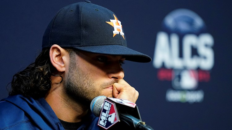 Astros ace injured; won't be able to pitch in World Series