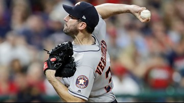 Verlander strikes out 13, leads Astros over Indians 2-0