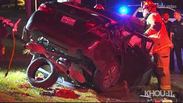 HPD: Driver dies after refusing to stop for traffic violation, slamming into tree
